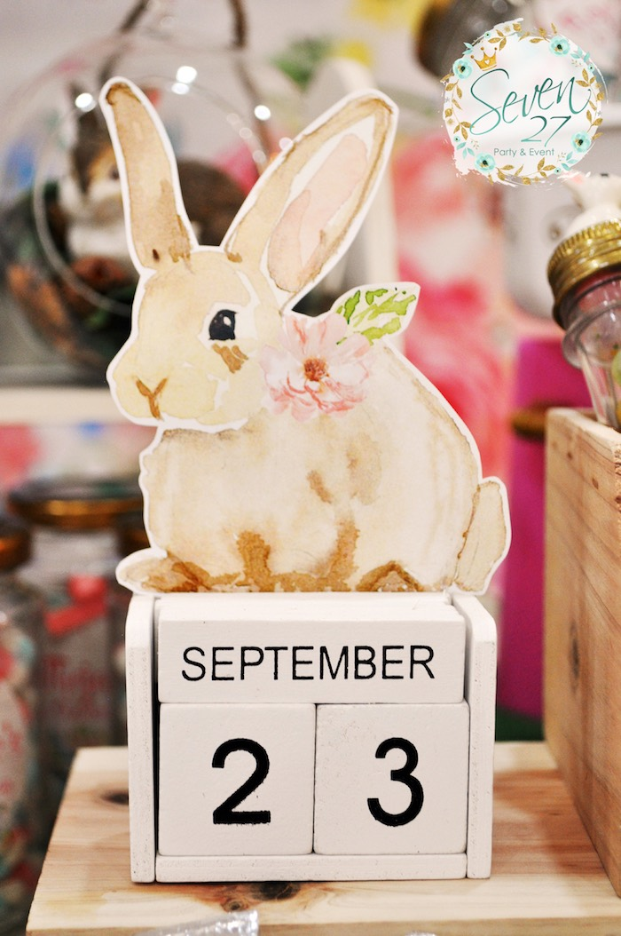 Bunny calendar from a Bunnies in Springtime Birthday Party on Kara's Party Ideas | KarasPartyIdeas.com (2)