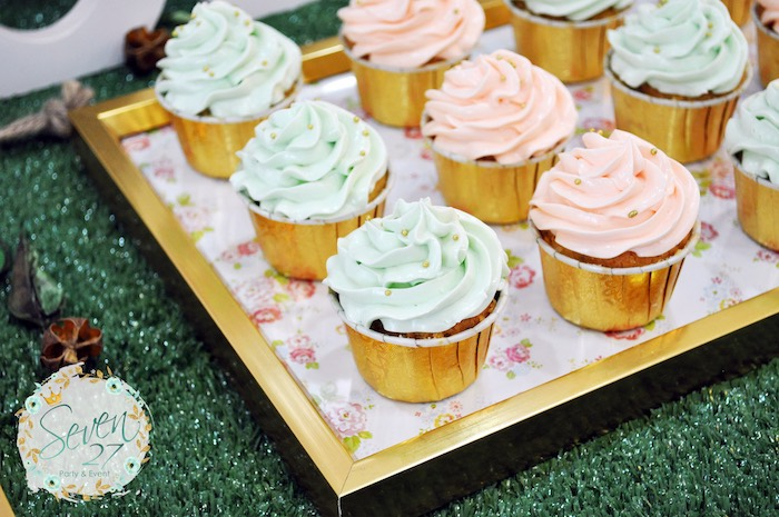 Cupcakes from a Bunnies in Springtime Birthday Party on Kara's Party Ideas | KarasPartyIdeas.com (20)