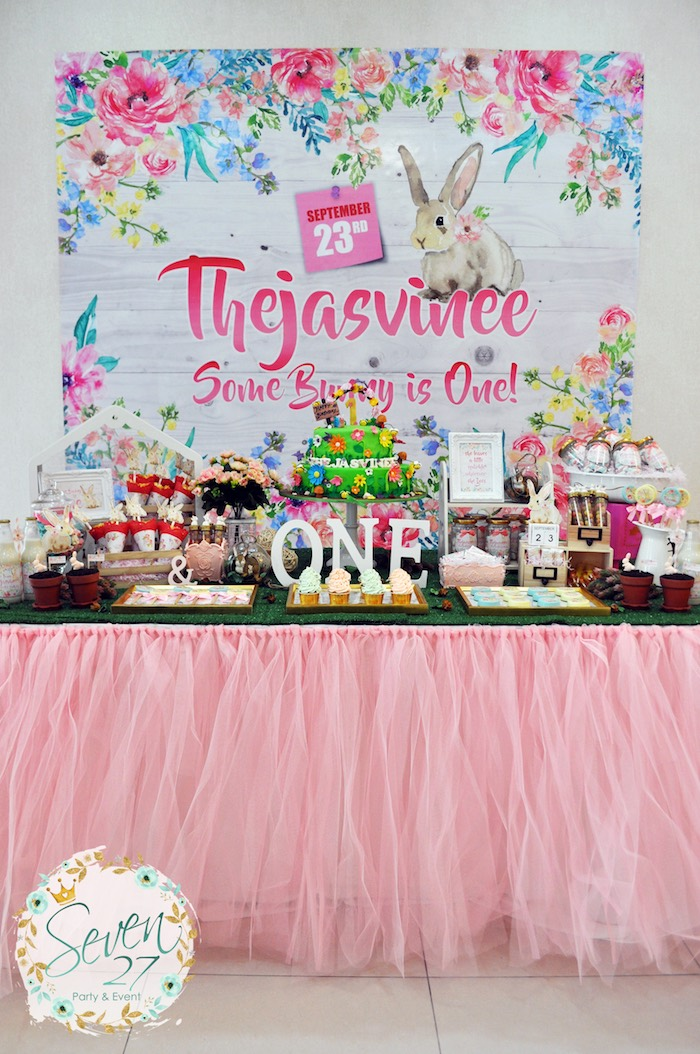Bunnies in Springtime Birthday Party on Kara's Party Ideas | KarasPartyIdeas.com (19)