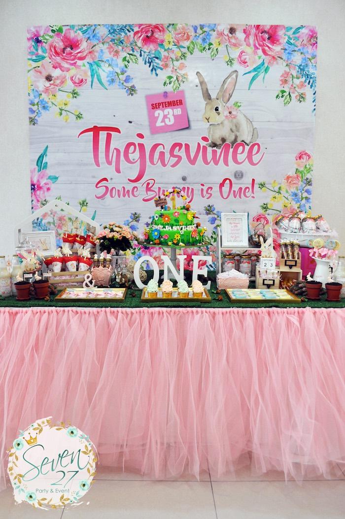 Bunnies in Springtime Birthday Party on Kara's Party Ideas | KarasPartyIdeas.com (19)