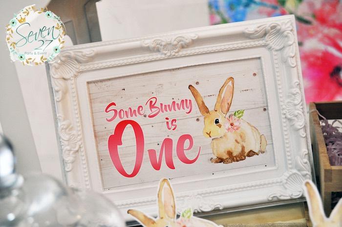 Bunny print from a Bunnies in Springtime Birthday Party on Kara's Party Ideas | KarasPartyIdeas.com (18)
