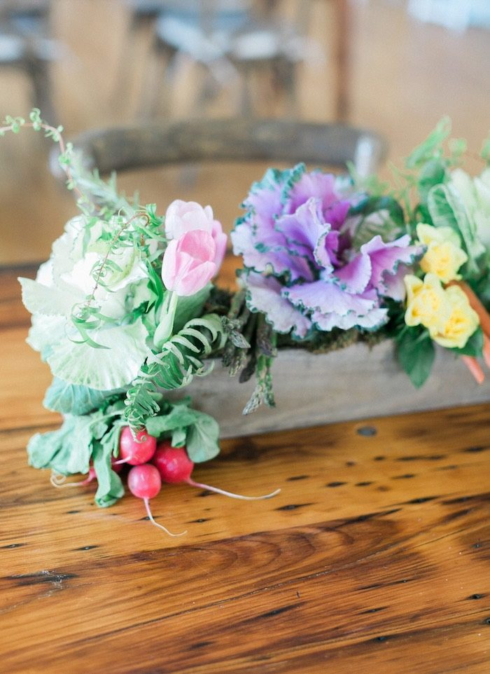 Garden box centerpiece from a Celebrate Spring Party on Kara's Party Ideas | KarasPartyIdeas.com (42)