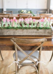 Tulip guest table from a Celebrate Spring Party on Kara's Party Ideas | KarasPartyIdeas.com (37)