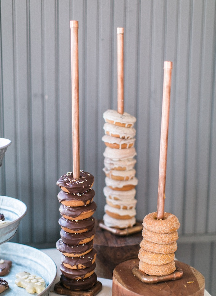 Donut stacks from a Celebrate Spring Party on Kara's Party Ideas | KarasPartyIdeas.com (31)