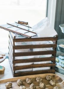 Snack bags in a wooden crate box from a Celebrate Spring Party on Kara's Party Ideas | KarasPartyIdeas.com (25)