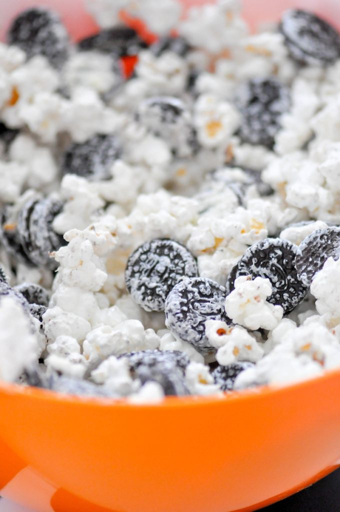 Cookies & Cream Zebra Popcorn Recipe via Kara's Party Ideas