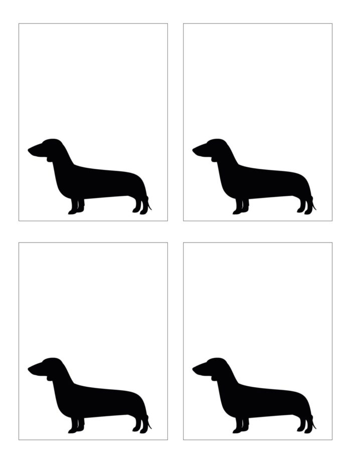 FREE printable doggy place cards / party tags! Modern French Bulldog and Friends dog birthday party by Karas Party Ideas | KarasPartyIdeas.com with FREE PRINTABLE PLACE CARDS, TAGS, BACKDROP, SIGNS AND MORE!