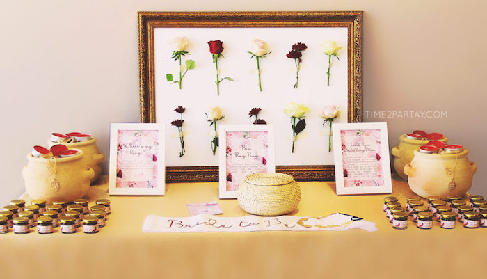 Game & favor table from a Floral Greek Bridal Shower on Kara's Party Ideas | KarasPartyIdeas.com (15)
