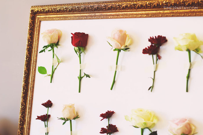Stemmed flower board from a Floral Greek Bridal Shower on Kara's Party Ideas | KarasPartyIdeas.com (12)