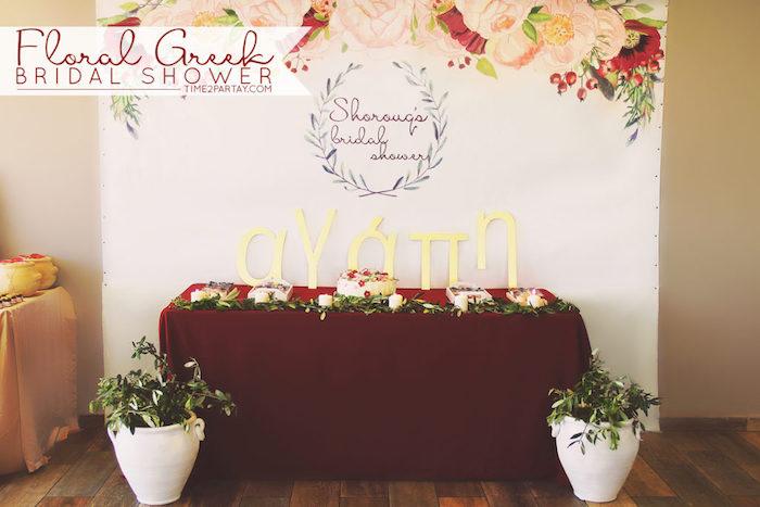 Floral Greek Bridal Shower on Kara's Party Ideas | KarasPartyIdeas.com (30)