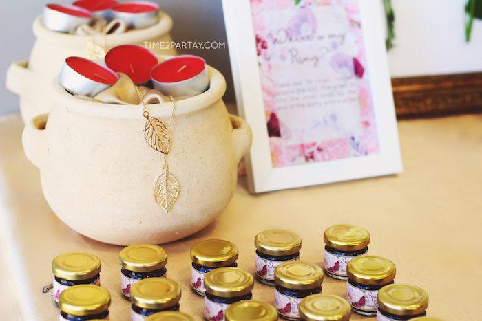 favors from a floral greek bridal shower on karas party ideas karaspartyideascom