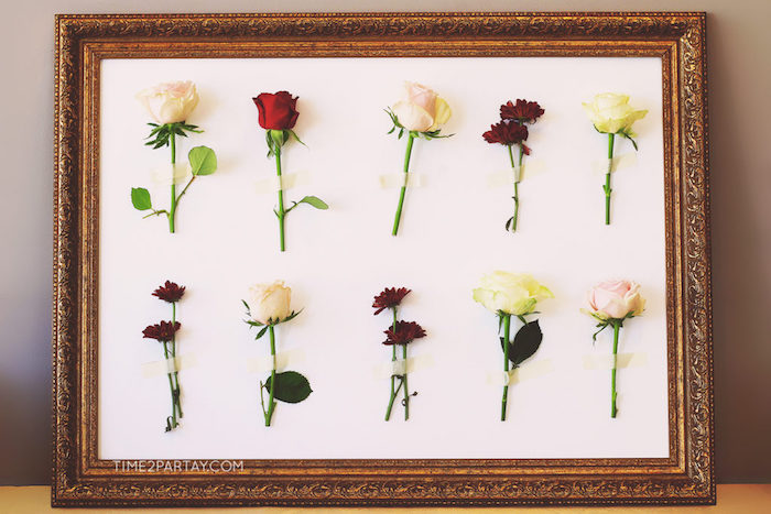 Framed fresh-flower board from a Floral Greek Bridal Shower on Kara's Party Ideas | KarasPartyIdeas.com (7)
