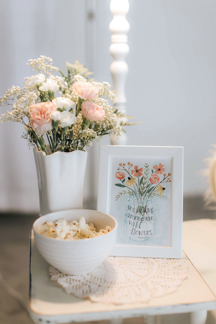 Floral decor from a Floral Love Baby Shower on Kara's Party Ideas | KarasPartyIdeas.com (14)