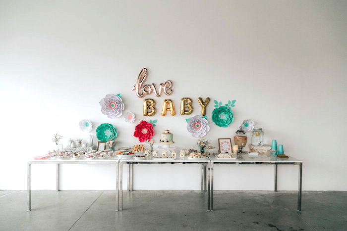 Floral Love Baby Shower on Kara's Party Ideas | KarasPartyIdeas.com (13)