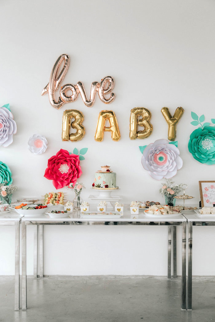Floral Love Baby Shower on Kara's Party Ideas | KarasPartyIdeas.com (9)