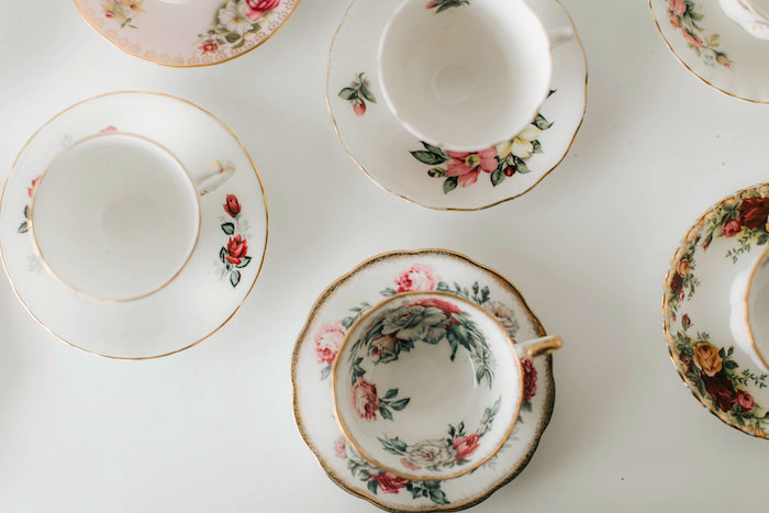 Floral tea cups & saucers from a Floral Love Baby Shower on Kara's Party Ideas | KarasPartyIdeas.com (26)