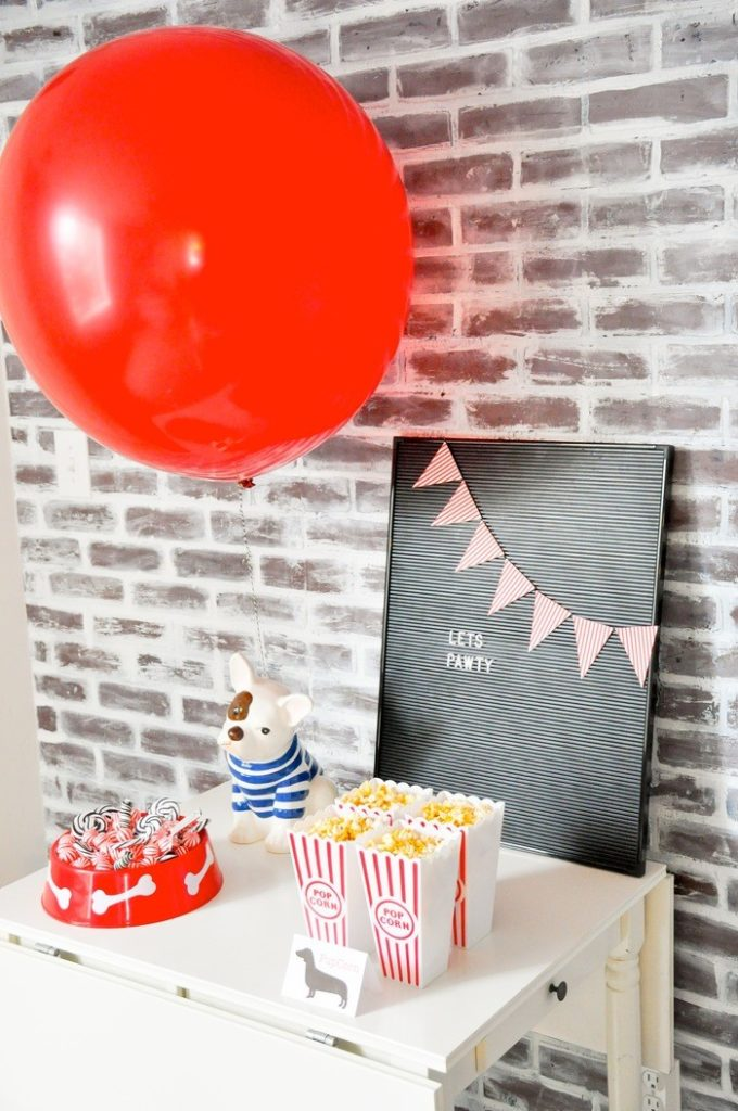 Modern French Bulldog and Friends dog birthday party by Karas Party Ideas | KarasPartyIdeas.com with FREE PRINTABLE PLACE CARDS, TAGS, BACKDROP, SIGNS AND MORE!