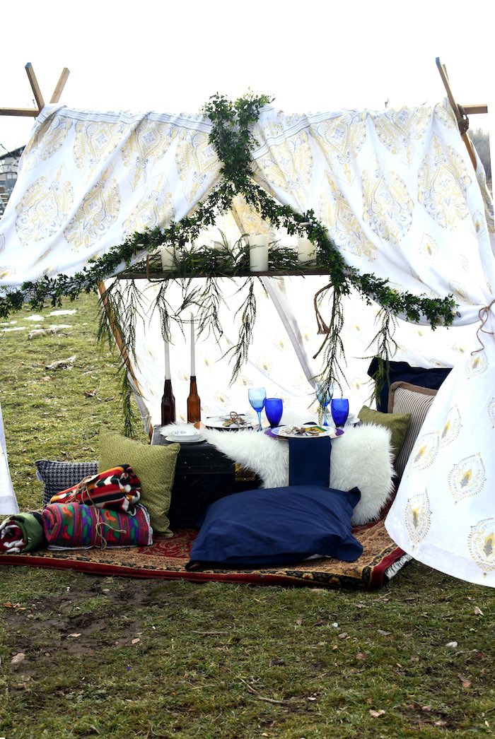 Intimate Boho Dinner for Two on Kara's Party Ideas | KarasPartyIdeas.com (15)