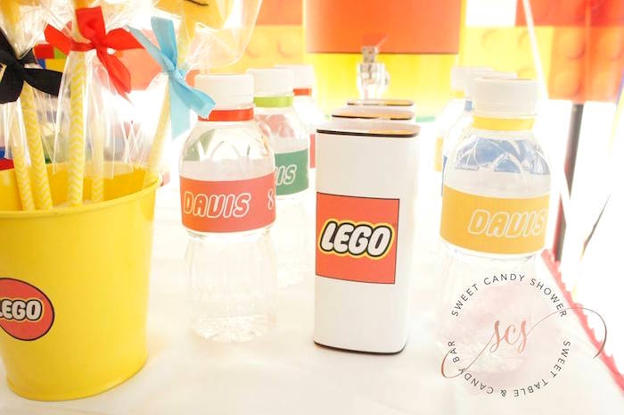 Lego juice boxes & water bottle labels from a Lego Birthday Party on Kara's Party Ideas | KarasPartyIdeas.com (8)