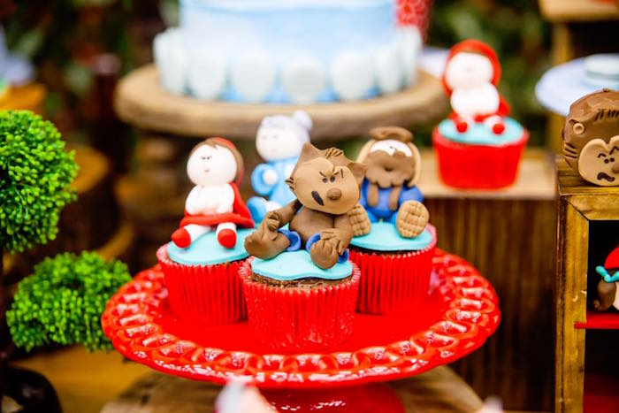 Little Red Riding Hood cupcakes from a Little Red Riding Hood Birthday Party on Kara's Party Ideas | KarasPartyIdeas.com (6)