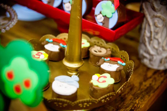 Chocolate covered Little Red Riding Hood themed Oreos from a Little Red Riding Hood Birthday Party on Kara's Party Ideas | KarasPartyIdeas.com (19)