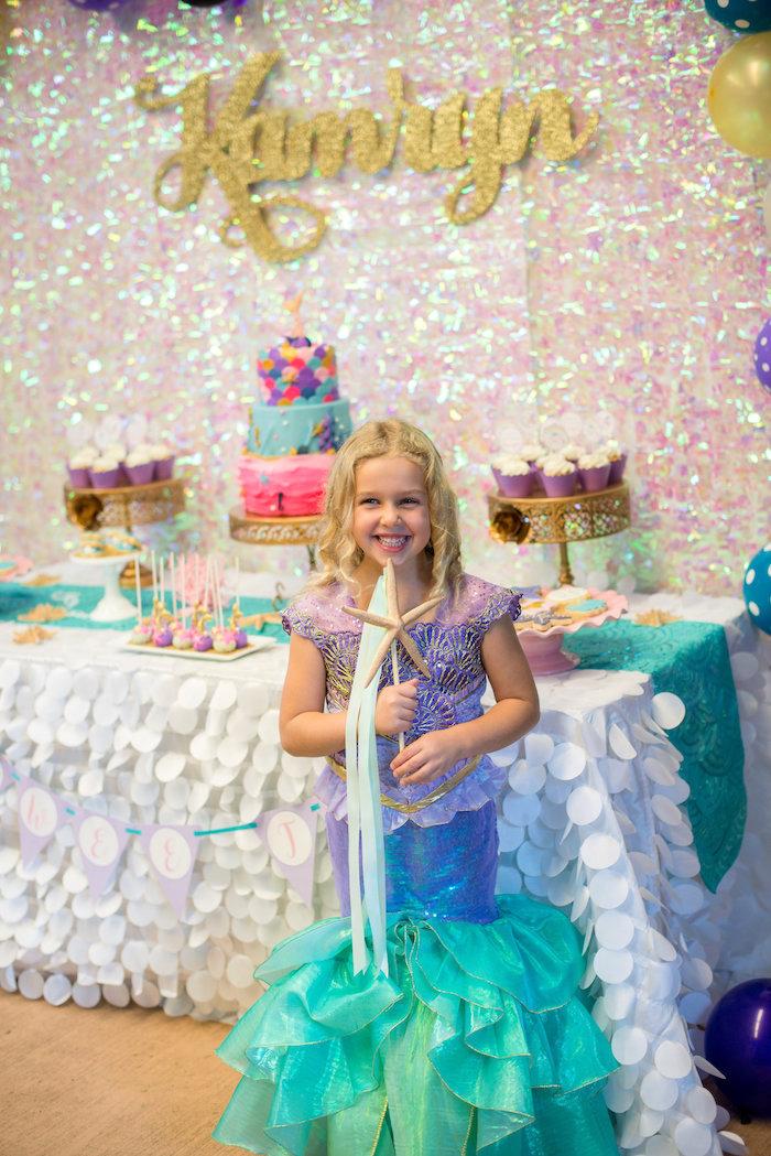 Starfish wand from a Magical Mermaid Birthday Party on Kara's Party Ideas | KarasPartyIdeas.com (23)
