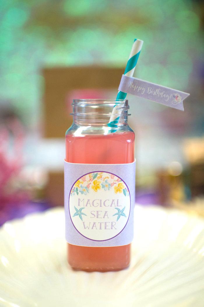 Magical sea water from a Magical Mermaid Birthday Party on Kara's Party Ideas | KarasPartyIdeas.com (35)