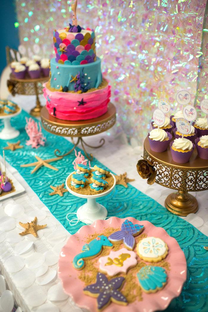 Magical Mermaid Birthday Party on Kara's Party Ideas | KarasPartyIdeas.com (9)