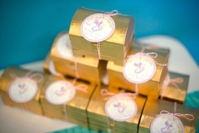 Treasure chest favors from a Magical Mermaid Birthday Party on Kara's Party Ideas | KarasPartyIdeas.com (27)