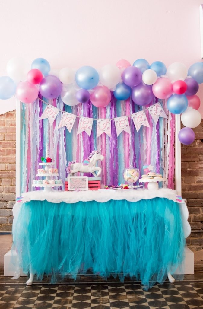 Unicorn dessert table from a Magical Unicorn Party on Kara's Party Ideas | KarasPartyIdeas.com (19)