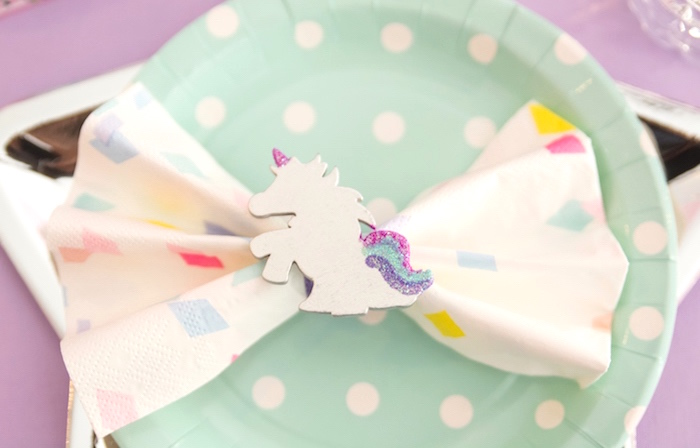 Unicorn napkin ring from a Magical Unicorn Party on Kara's Party Ideas | KarasPartyIdeas.com (17)