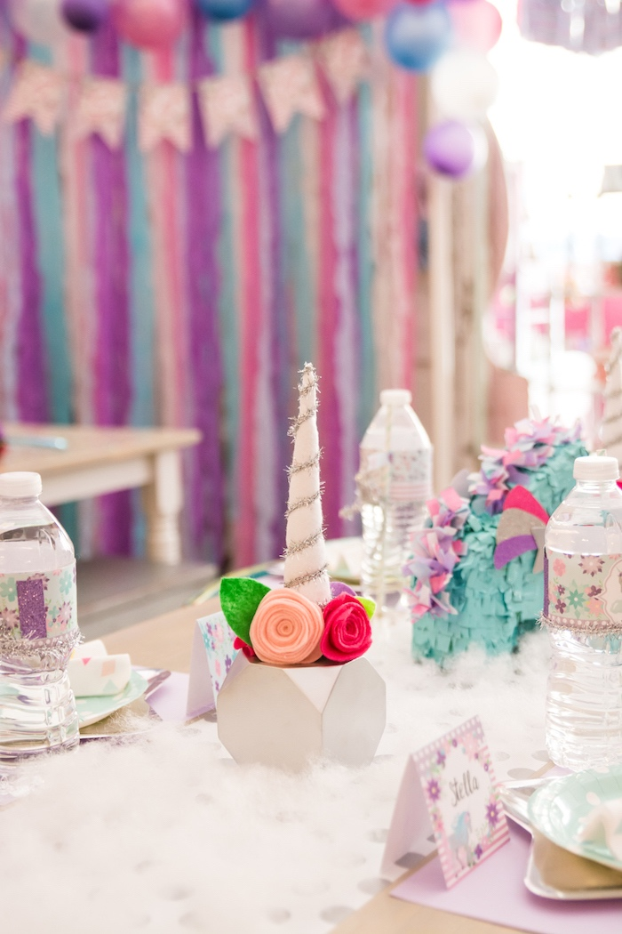 Guest tablescape from a Magical Unicorn Party on Kara's Party Ideas | KarasPartyIdeas.com (11)