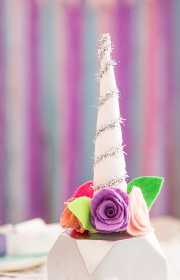 Unicorn horn from a Magical Unicorn Party on Kara's Party Ideas | KarasPartyIdeas.com (10)
