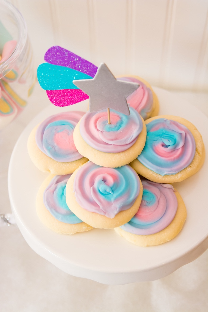 Cotton candy cookies from a Magical Unicorn Party on Kara's Party Ideas | KarasPartyIdeas.com (30)