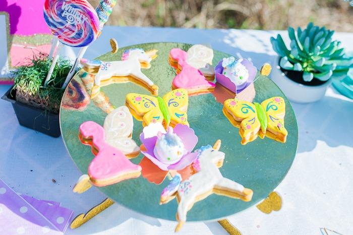 Sugar cookies from a Magical Unicorns, Fairies & Rainbows Birthday Party on Kara's Party Ideas | KarasPartyIdeas.com (25)
