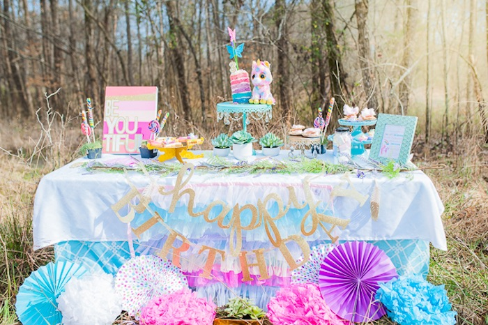 Magical Unicorns, Fairies & Rainbows Birthday Party on Kara's Party Ideas | KarasPartyIdeas.com (32)
