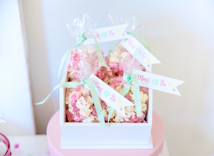 Popcorn favors from a Mint To Be BFF Valentine's Day Party on Kara's Party Ideas | KarasPartyIdeas.com (24)