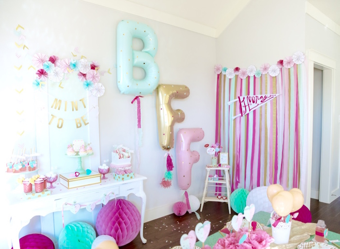 Mint To Be BFF Valentine's Day Party on Kara's Party Ideas | KarasPartyIdeas.com (13)