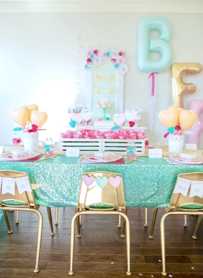Mint To Be BFF Valentine's Day Party on Kara's Party Ideas | KarasPartyIdeas.com (40)
