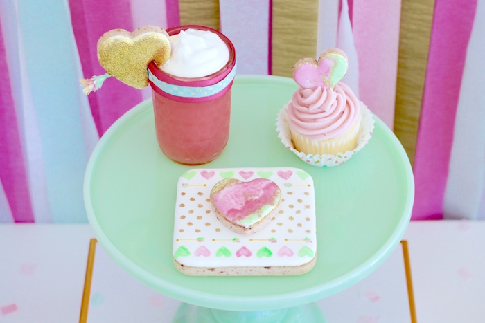 Valentine's Day Sweets from a Mint To Be BFF Valentine's Day Party on Kara's Party Ideas | KarasPartyIdeas.com (6)