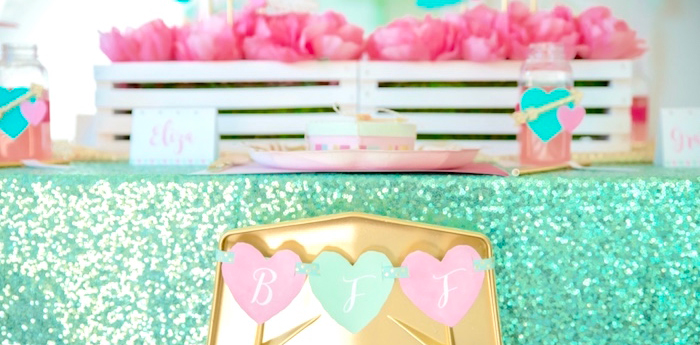 Mint To Be BFF Valentine's Day Party on Kara's Party Ideas | KarasPartyIdeas.com (4)