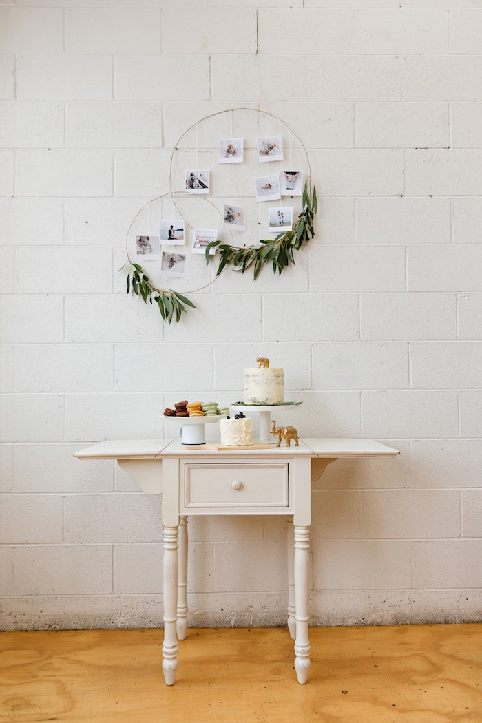 Sweet table from a Modern + Rustic 1st Birthday Party on Kara's Party Ideas | KarasPartyIdeas.com (26)