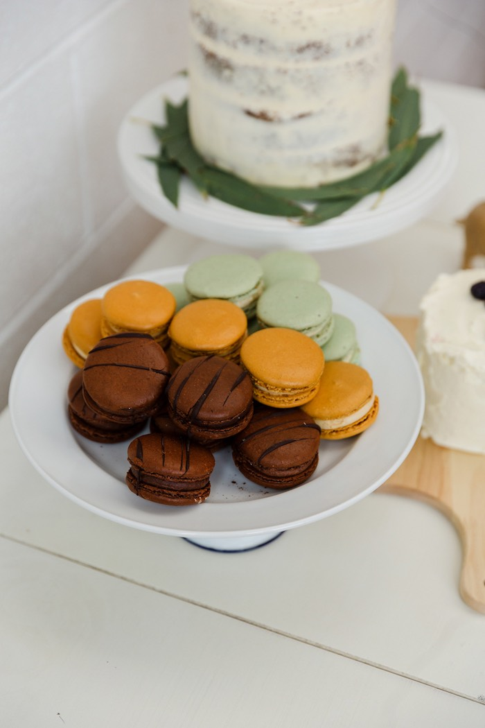 Macarons from a Modern + Rustic 1st Birthday Party on Kara's Party Ideas | KarasPartyIdeas.com (23)