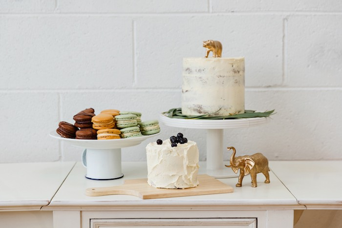 Dessert spread from a Modern + Rustic 1st Birthday Party on Kara's Party Ideas | KarasPartyIdeas.com (22)