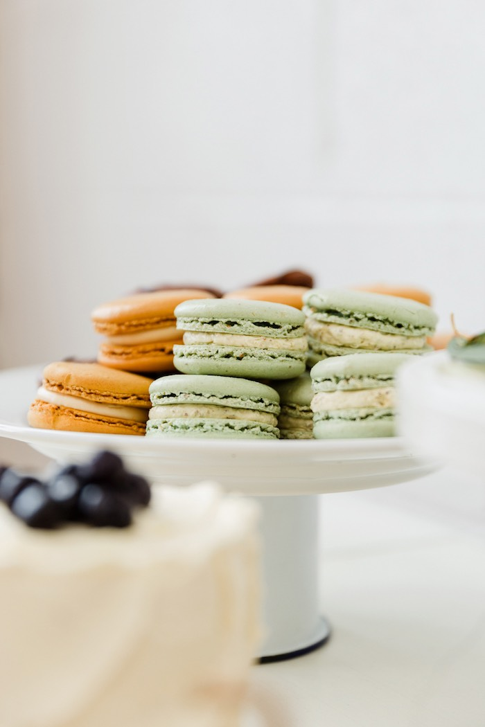 Macarons from a Modern + Rustic 1st Birthday Party on Kara's Party Ideas | KarasPartyIdeas.com (19)