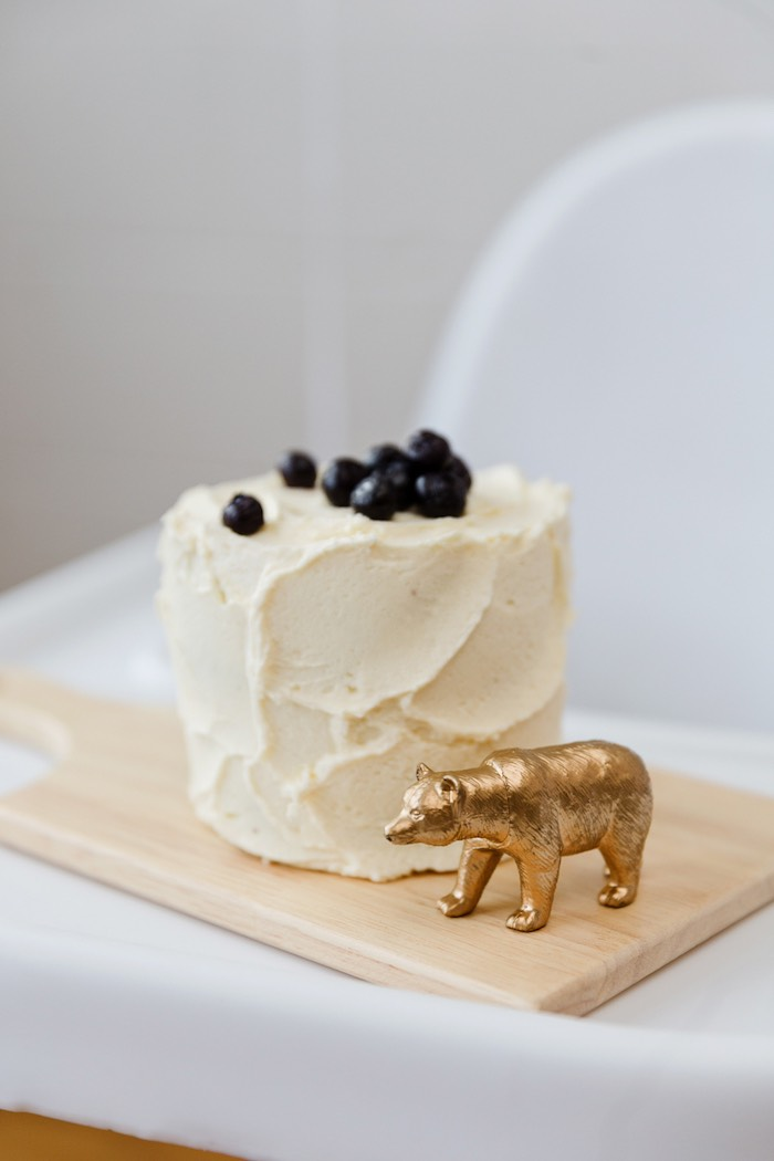 Smash cake from a Modern + Rustic 1st Birthday Party on Kara's Party Ideas | KarasPartyIdeas.com (10)