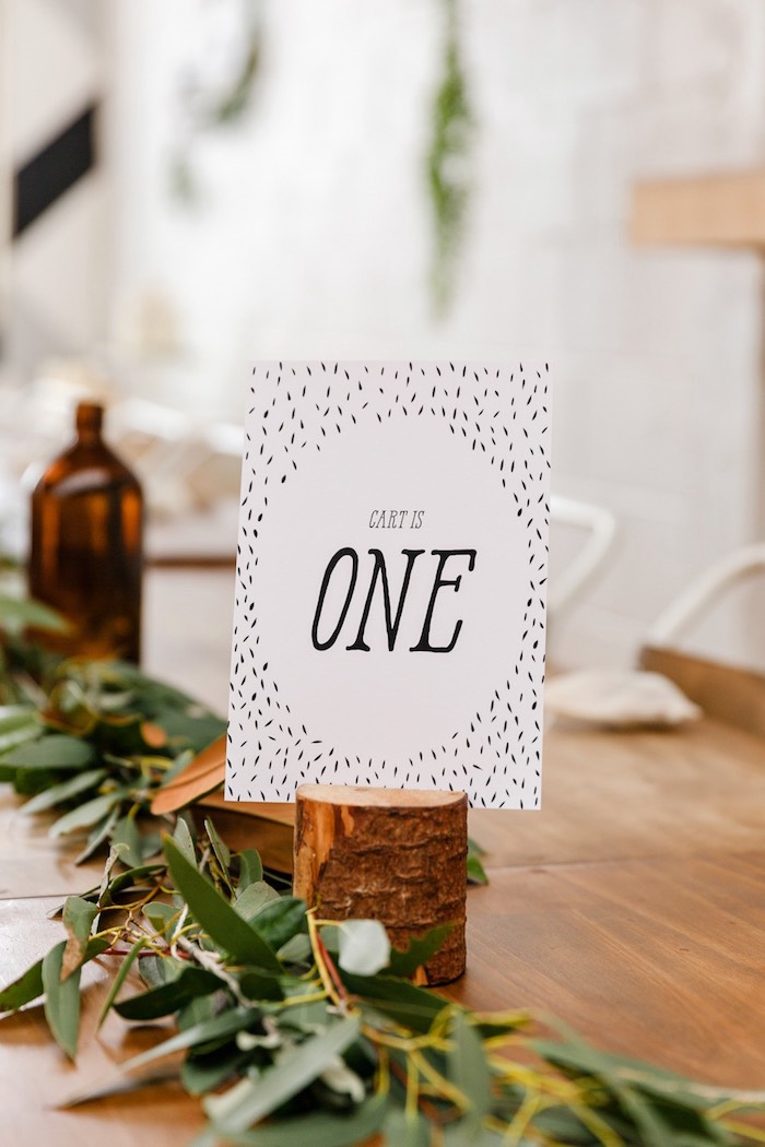 Printed party sign from a Modern + Rustic 1st Birthday Party on Kara's Party Ideas | KarasPartyIdeas.com (33)