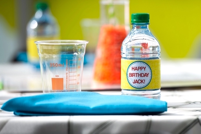 Measurement drink cups from a Modern Science Birthday Party on Kara's Party Ideas | KarasPartyIdeas.com (35)