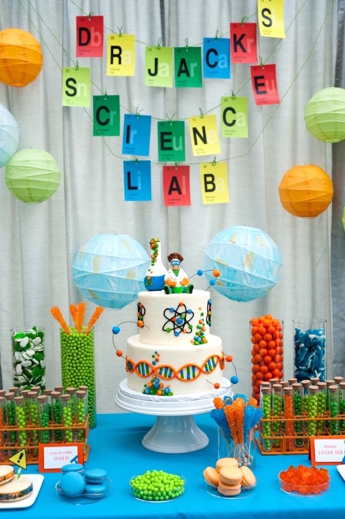 Modern Science Birthday Party On Karas Ideas