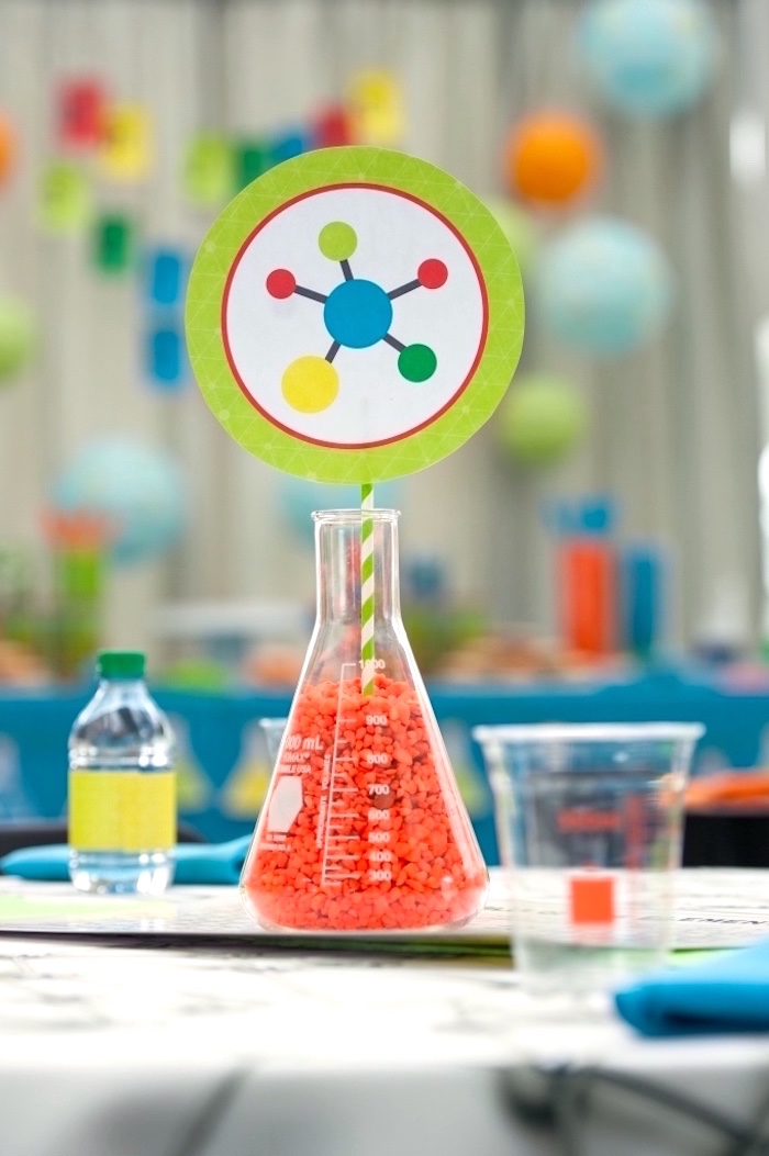 Kara S Party Ideas Modern Science Birthday Party Kara S